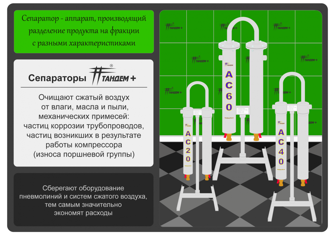 Сепараторы Тандем+